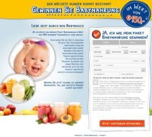 Babynahrung Gewinnspiel