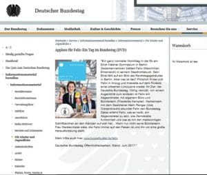 Kinder DVD vom Bundestag