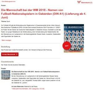 Fussball Poster von deutschen Spielern kostenlos bestellen