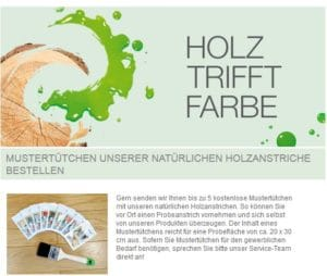 Osmo Holzanstrich Produktprobe