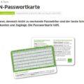 Passwort-Karte von DsiN