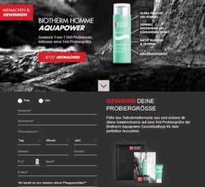 Biotherm Homme Aquapower Kosmetikprobe